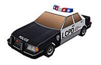 Police Car papercraft CW