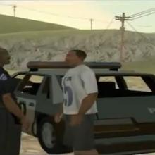 The green sabre coche de policia beta en la cutscene.png