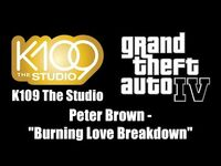 "GTA IV (GTA 4) - K109 The Studio - Peter Brown - ""Burning Love Breakdown"""