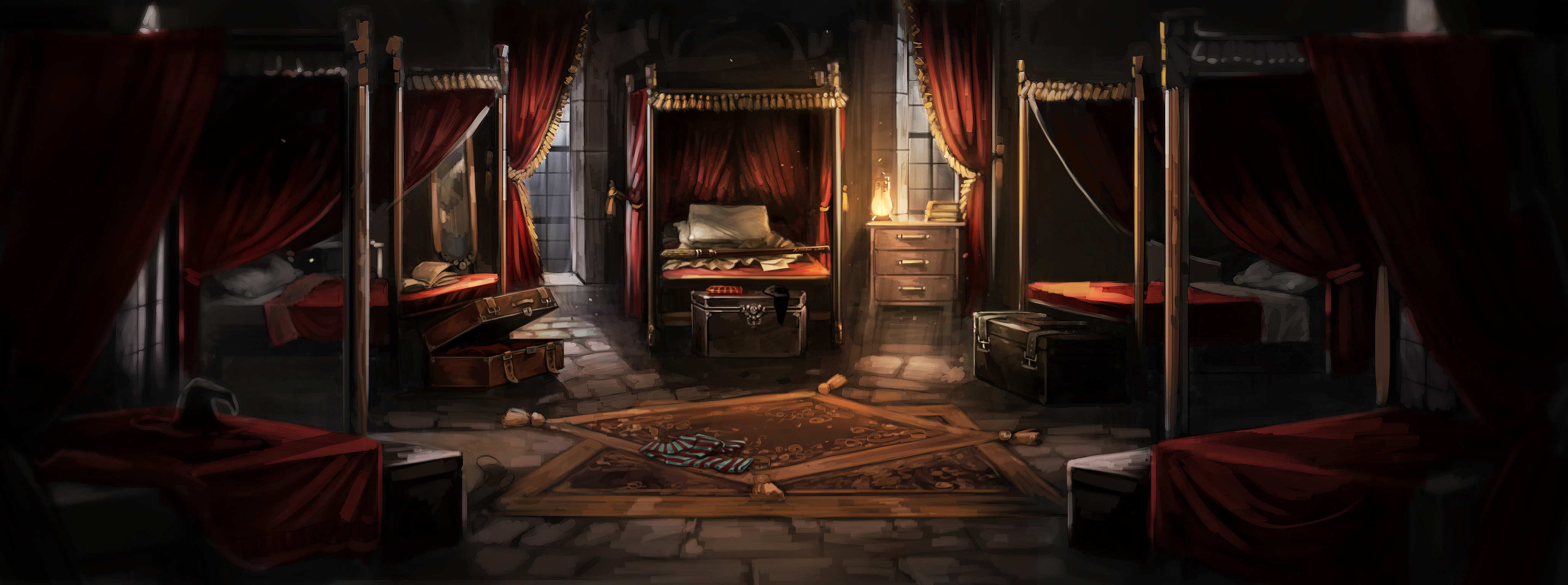 Dormitorio de chicos de Gryffindor