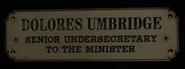 Dolores Umbridge Placa
