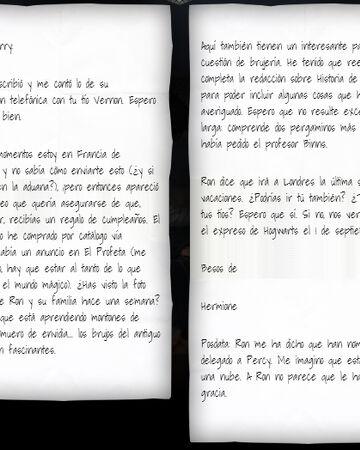 Carta De Hermione Granger A Harry Potter 1993 Harry Potter Wiki Fandom