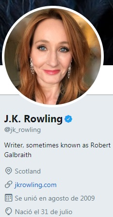 Cuenta de Twitter de J. K. Rowling