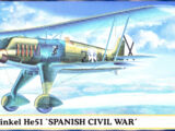 Hasegawa 1/72 00726 Heinkel He51 'Spanish Civil War'
