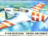 Hasegawa 1/72 00685 P-51B Mustang 'Swiss Air Force'
