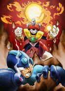 Megaman vs Solar Man by Hermesgildo