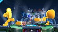 Mega Man y Sonic enfrentandose a Yellow Devil - (SSB. for Wii U)