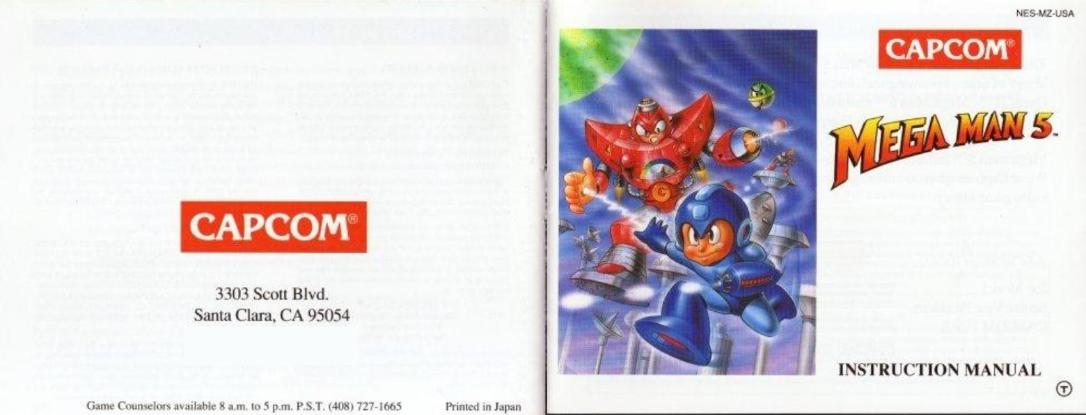 Manual de Mega Man 5