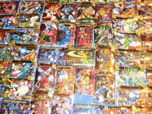 Recopilatorio de tarjetas Carddass de Rockman.