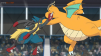 EP1114 Mega-Lucario vs Dragonite