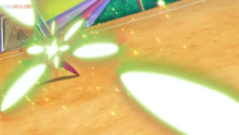 EP1073 Tsareena usando Hoja mágica