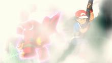 P19 Volcanion usando neblina