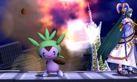 Chespin usando bomba germen SSB4 3DS