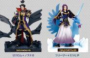 Figuras de Nobunaga y Mitsuhide