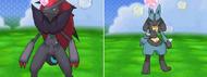 Zoroark y Lucario en el Poké Recreo XY