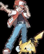Artwork Rojo y Pikachu (20 aniversario)