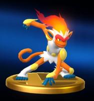 Trofeo de Infernape SSB4 Wii U