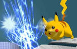 Pikachu usando chispa SSBM