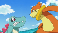 EP614 Buizel contra Totodile