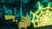 EP1127 Pikachu usando Electrotela