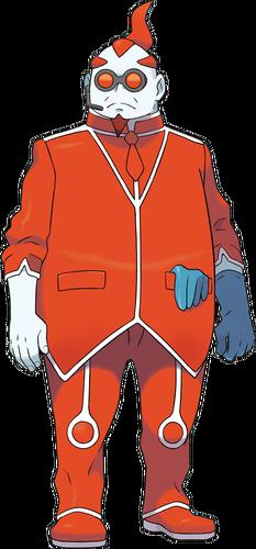 Ilustración de Xero en Pokémon X y Pokémon Y