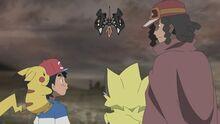 EP1044 Ash despidiéndose de sus amigos