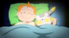 EP949 Chris y Togedemaru durmiendo