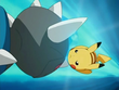EP487 Pikachu esquivando cabezazo zen