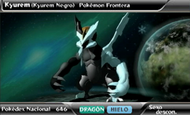 Kyurem Negro en Pokédex 3D Pro