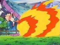 EP230 Arcanine usando Rueda fuego
