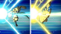 EP1044 Gigavoltio destructor de Zeraora y Pikachu