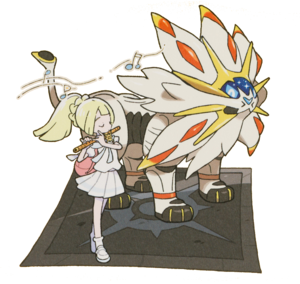 Artwork de Lylia tocando la flauta solar