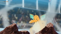 EP1114 Dragonite usando Vendaval