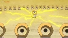 EP1081 Meltan de Ash recibiendo energia de los demás Meltan
