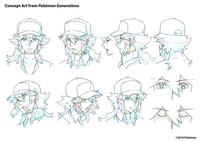 Concept Art de Pokémon Generations de de la cara de N