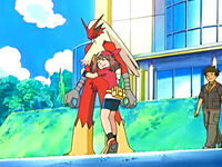 EP545 May junto a Blaziken