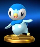 Trofeo de Piplup SSB4 Wii U