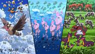 Más de 700 Pokémon en tierra, mar y aire