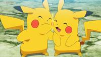 EP1124 Pikachu de Go y el Pikachu de Ash enamorados