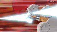 EP766 Escavalier de Bel usando ataque furia