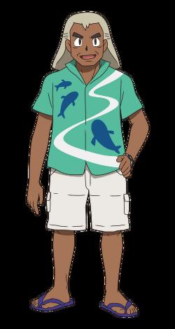 <i>Gabriel Oak en el anime de Pokémon Sol y Luna</i>