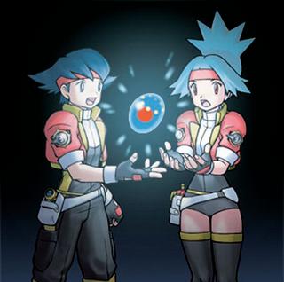 Helio y Selena con el huevo de Manaphy