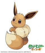 Artwork Oficial de Eevee Hembra en Pokémon Let's GO