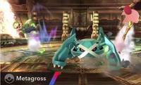 Metagross usando terremoto SSB4 Wii U