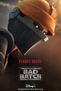 Star Wars The Bad Batch Fennec Shand poster