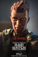 Star Wars The Bad Batch Saw Gerrera poster