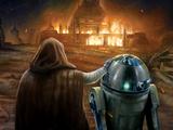 Destrucción del Templo Jedi de Luke Skywalker
