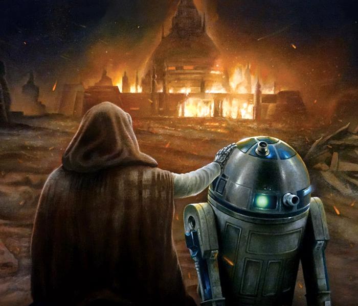 Destrucción de la academia Jedi de Luke Skywalker