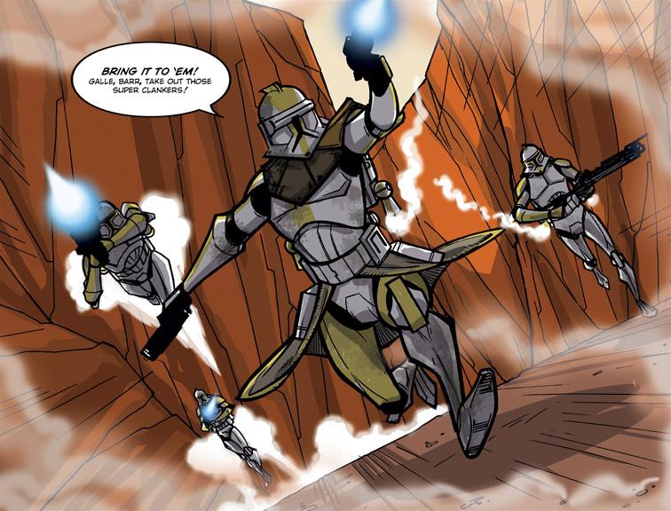 Batalla en el planeta no-identificado (droide táctico)