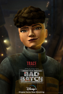 Star Wars The Bad Batch Trace Martez poster